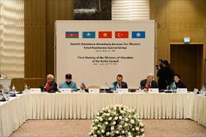 Türk dili konuşan ülkelerin bakanları bir arada