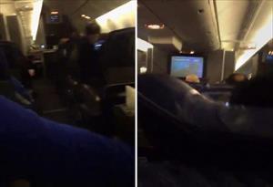 Uçakta dehşet anları