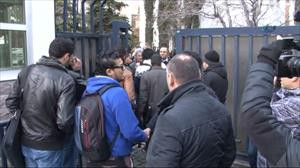 Libya Büyükelçiliği'nde hareketli dakikalar