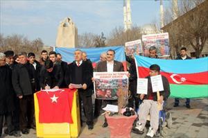 Azeri askerler için Iğdır'da imza kampanyası