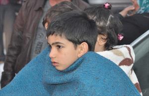 Suriyeli çocukların korku dolu anları