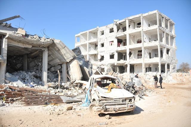 Dört ay süren çatışmaların ardından Kobani görüntülendi