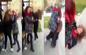 Kızlar kavga etti, erkekler bahis oynadı