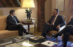 Davutoğlu, Portekiz Cumhurbaşkanı ile bir araya geldi
