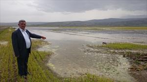 8 bin dönüm arazi sular altında