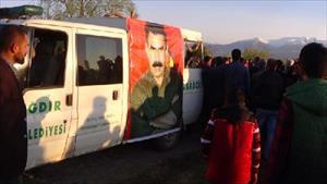Diyadin'deki çatışmada ölen PKK'lı, Iğdır'da toprağa verilirken olaylar çıktı