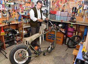 İnat uğruna chopper tarzı bisiklet üretiyor