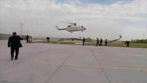 Erdoğan'ın helikopteri alana inemedi