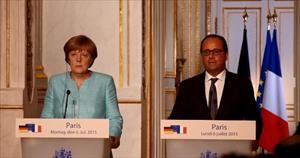 Hollande ve Merkel'den Yunanistan'a zeytin dalı