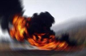 PKK yol kesti TIR yaktı