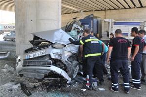 Bayram dönüşü kaza: 2 ölü, 9 yaralı