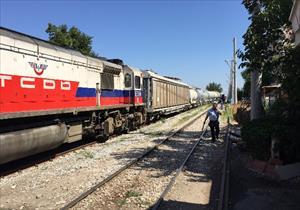 Trene mayınlı saldırı