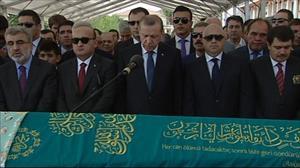Cenaze törenine Cumhurbaşkanı Erdoğan da katıldı