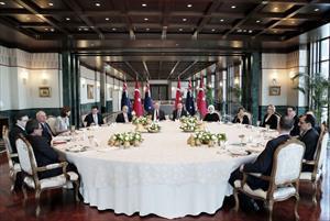 Cumhurbaşkanından konuğu onuruna öğle yemeği