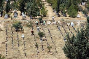 Suruç bombacısının cenazesi kimsesizler mezarlığında defnedildi