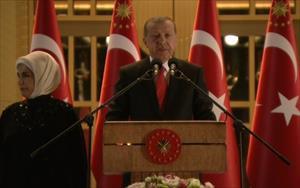 Erdoğan'dan 30 Ağustos resepsiyonu'nda büyük sürpriz