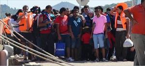 Ayvalık'ta 412 Suriyeli kaçak yakalandı