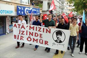 Gaziantep'te teröre karşı birlik yürüyüşü