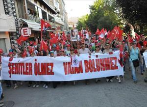 Eskişehir'de 'Teröre Karşı Birlik Yürüyüşü'ne 5 bin kişi katıldı