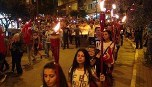 30 Ağustos zafer bayramı'nda 'Fener alayı ve teröre lanet' yürüyüşü