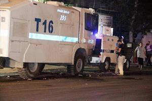 Polise roketli saldırı