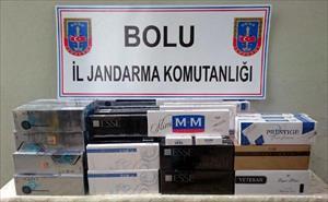 Bolu'da 3 bin 770 paket kaçak sigara ele geçirildi