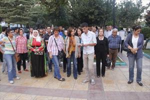 Şanlıurfa'da Öcalan için protesto gösterisi
