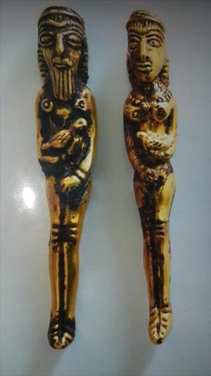 Iğdır'da Pers dönemine ait 2 altın heykel ele geçirildi