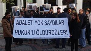 Edirne'de Tahir Elçi eylemi
