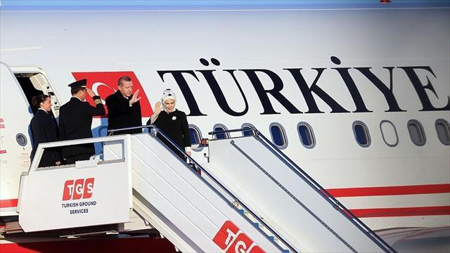 Cumhurbaşkanı Erdoğan Fransa'ya gitti