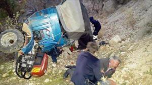 Ermenek'te patpat devrildi: 1 ölü, 2 yaralı