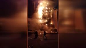 Mekke'de Türklerin de kaldığı otelde yangın !