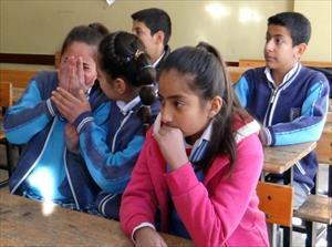 Roketin düştüğü okulda eğitim hüzünlü başladı