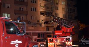 5 katlı binada yangın paniği!