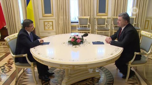 Davutoğlu Ukrayna Cumhurbaşkanıyla görüştü