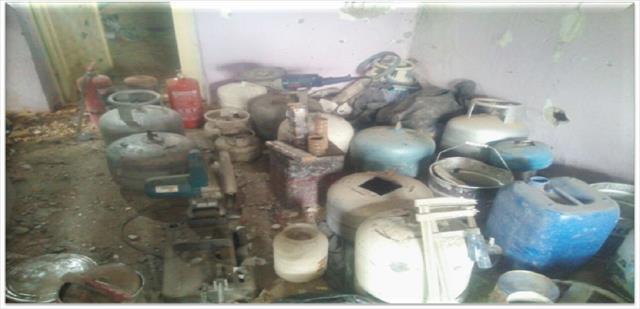 Teröristlerin gizli patlayıcı imalathanesi imha edildi