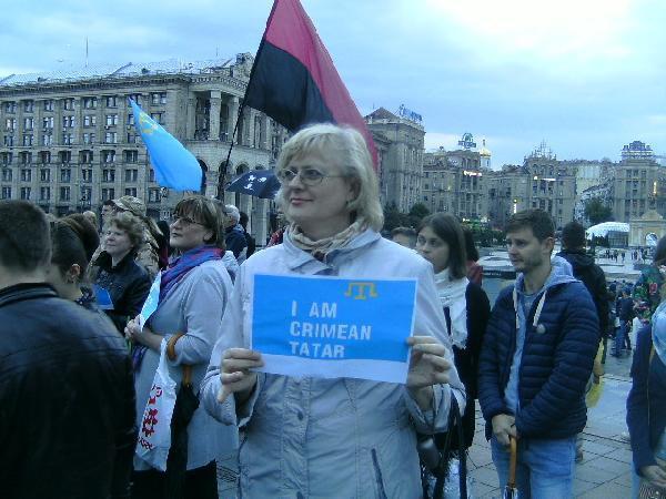 Kiev'in Bağımsızlık Meydanı'nda Kırım Tatar Sürgünü anıldı