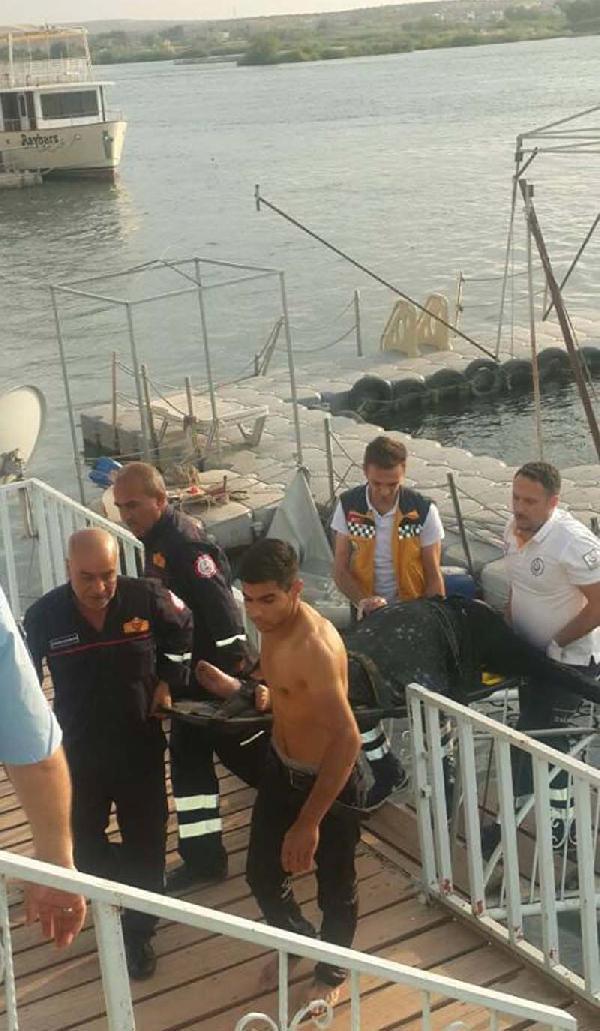 Suriyeli kadın intihar için Fırat Nehri'ne atladı