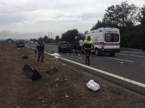 Düzce'de kaza: 1 ölü, 2 yaralı
