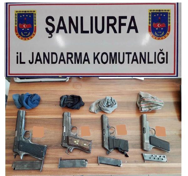 Şanlıurfa'da silah kaçakçılığına 3 gözaltı