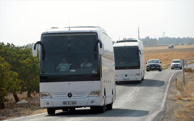 Cerablus'a 4 otobüsle takviye