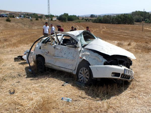 Yozgat'ta otomobil takla attı: 1 ölü, 7 yaralı