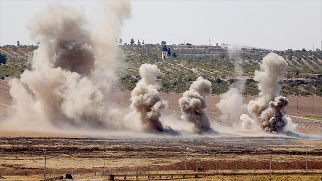 Genelkurmay Başkanlığı: Fırat Kalkanı Harekatı kapsamında 69 DEAŞ hedefine 210 atış yapıldı