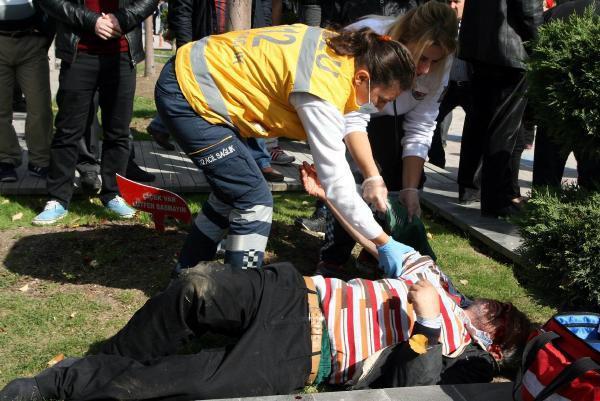 Bolu'da 'laf atma' kavgası: 1 yaralı