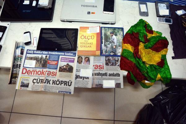 Gaziantep'te, PKK operasyonuna 9 tutuklama
