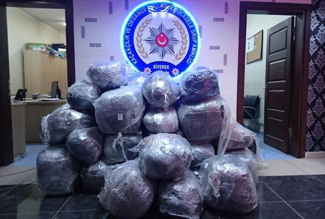 Şanlıurfa'da 258 kilo uyuşturucu ele geçirildi