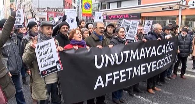 Hrant Dink ölümünün 10'uncu yıl dönümünde anıldı