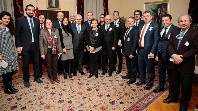 Başbakan Yıldırım TBMM'de gazetecilerin sorularını yanıtladı