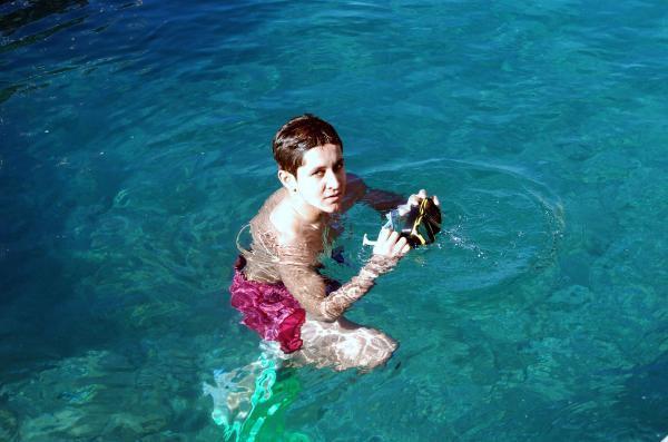 Demre'de turistler tekne turuna çıktı, denize girdi