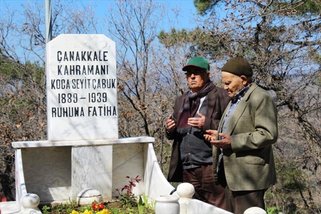 Seyit Onbaşı mezarı başında anıldı